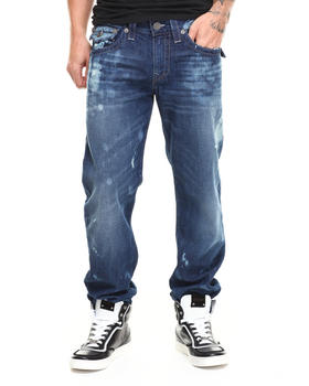 True Religion - Ricky Light Bleach w/ Flap Paint Denim