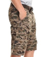 Shorts - Belted Camo Cargo Short