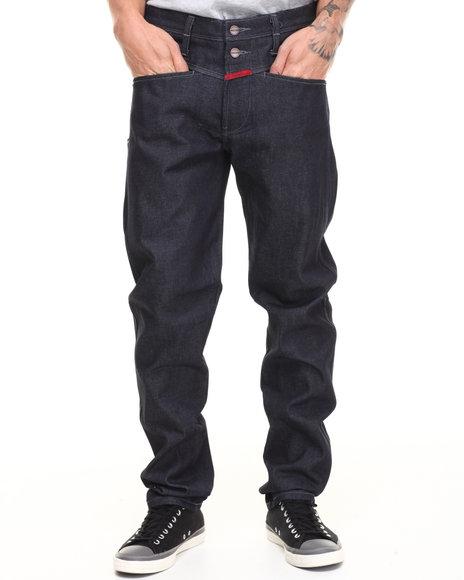 Girbaud - Men Dark Wash Breakix Regular Tapered Denim Jeans