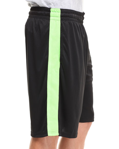 Buyers Picks - Men Black Mesh Side Panel Drawstring Short