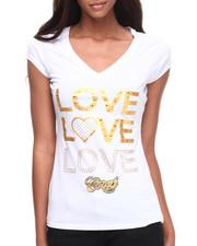 Women - Love, Love, Love V-Neck Tee