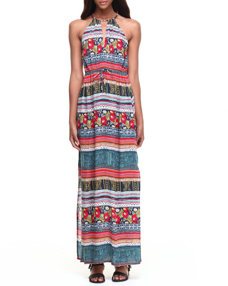 Minkpink - Women Multi Folk Frenzy Maxi Dress
