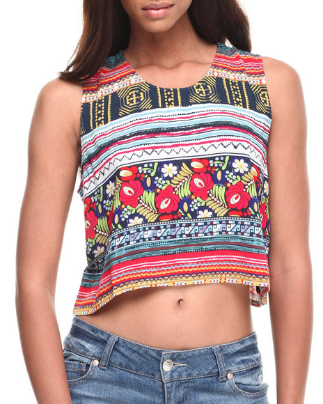 Minkpink - Women Multi Folk Frenzy Top