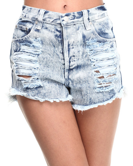 Minkpink Light Wash Shorts