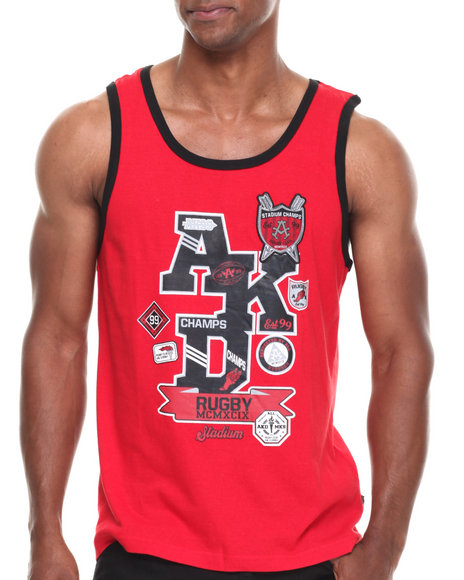 Akademiks Red Tanks