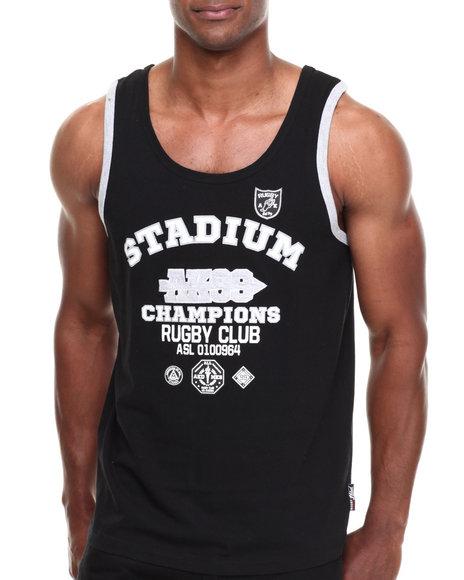 Akademiks - Men Black Zane Stadium Tank - $11.99