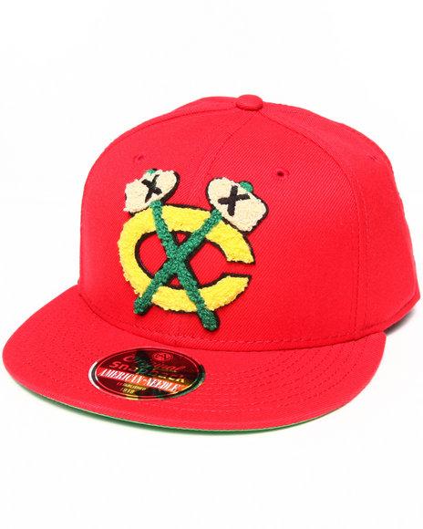 American Needle Chicago Blackhawks Varsity Snapback Hat Red