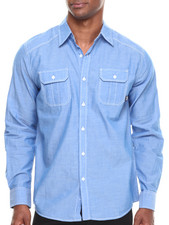 Buyers Picks - Contrast Chambray L/S Button Down