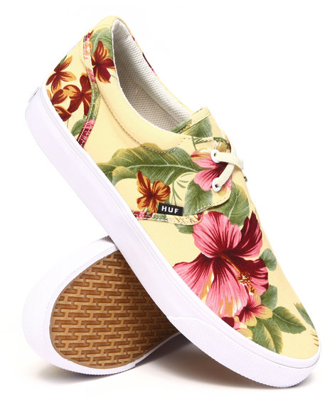 HUF Off White Genuine Blossom Pack Cotton Canvas Sneakers
