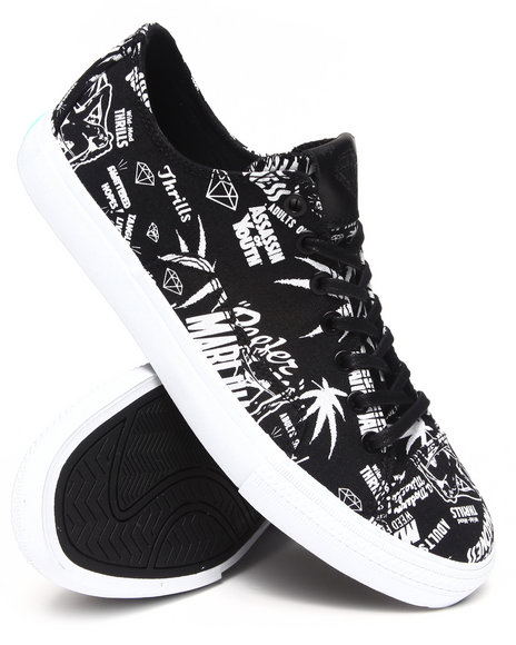 Diamond Supply Co Black Reefer Madness Brilliant Low Sneakers