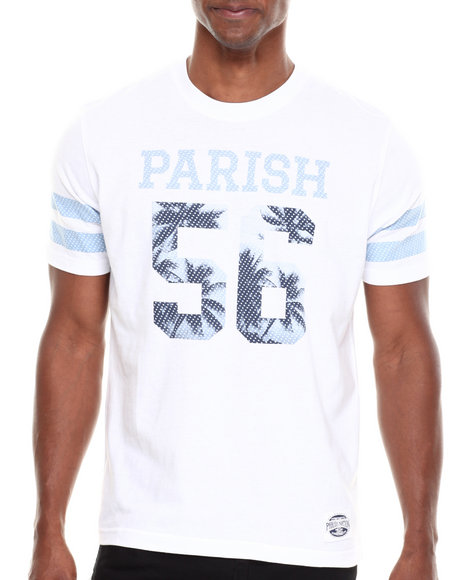 Parish White Graphic Photo Print T-Shirt