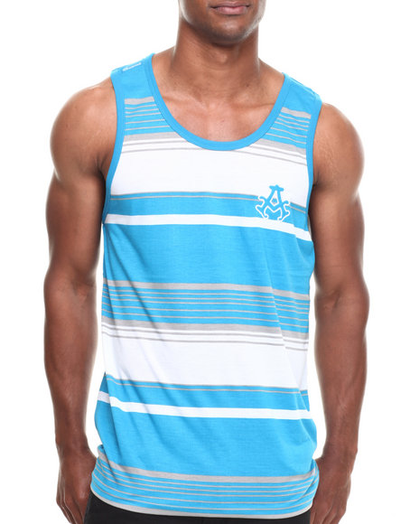 Akademiks - Men Blue Houston Striped Tank