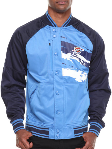 Nba, Mlb, Nfl Gear - Men Blue,Navy Oklahoma City Thunder Kareem Varsity Jacket