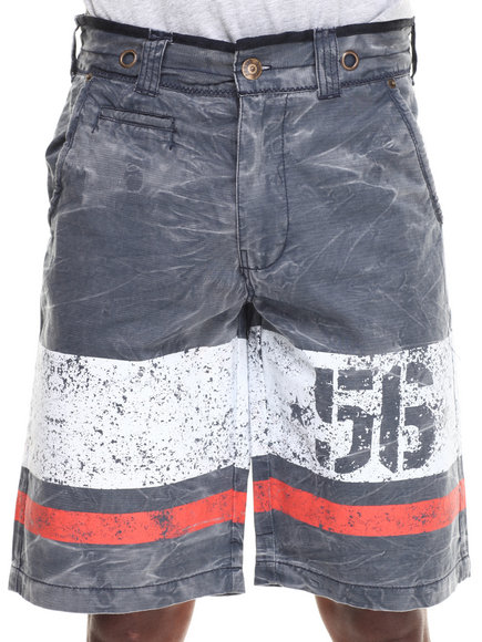 Parish Navy Coated Canvas Short