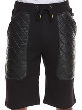 Men - Khamsin French Terry Short w/ Diamond Quilted Vegan Leather Pockets