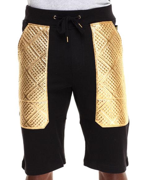 Black,Gold Shorts