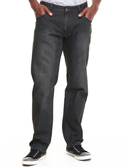 Lrg - Men Dark Wash Lifted Vacation Club True-Straight Jeans