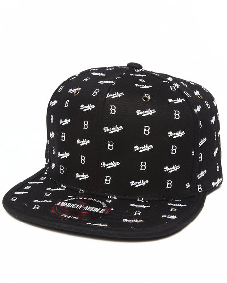 Ur-ID 222879 American Needle - Men Black Brooklyn Maestro Strapback Hat