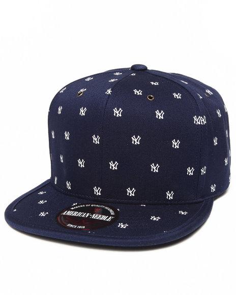 American Needle Men New York Yankees Maestro Strapback Hat Navy - $15.99