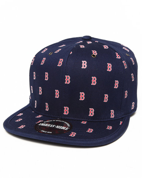 American Needle Men Boston Red Sox Maestro Strapback Hat Blue