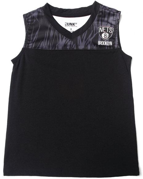 NBA MLB NFL Gear Boys Black Brooklyn Nets Asphalt Tank (8-20)