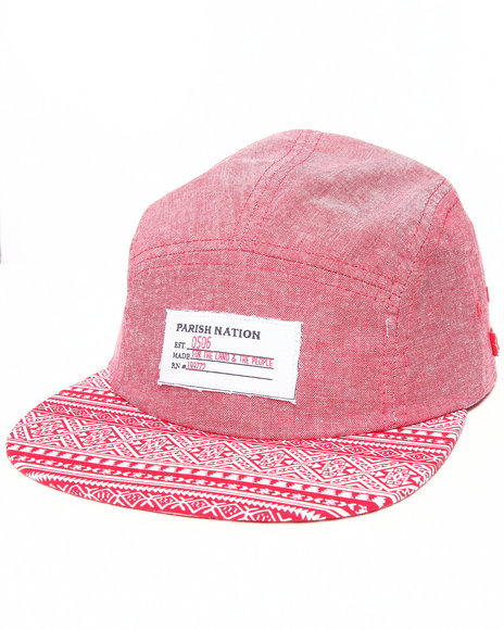 Parish Nimitz 5-Panel Hat Red