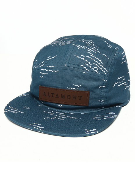 Altamont Men Wavy 5-Panel Camp Hat Blue