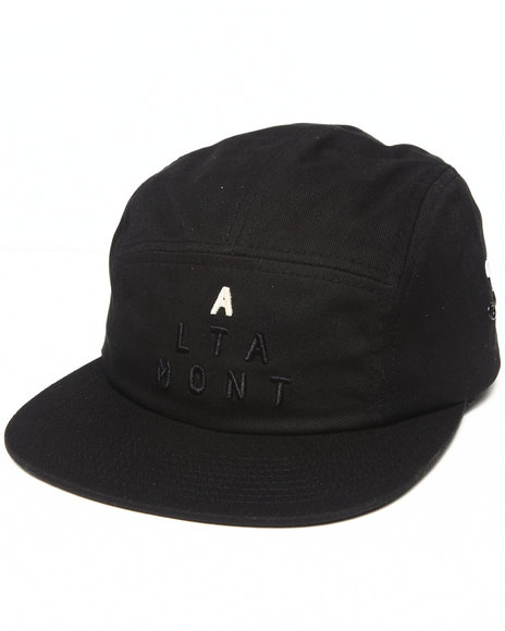 Altamont Men Lockstep 5-Panel Camp Hat Black