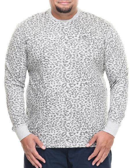 Enyce Grey Leopard Crew Neck (Big & Tall)