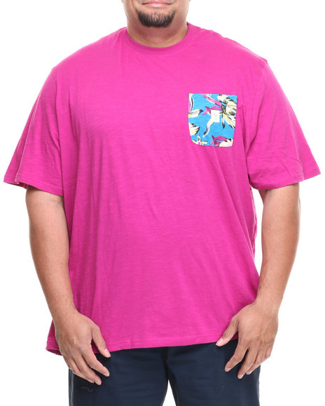 Parish Violet Floral Pocket Tee (Big & Tall)