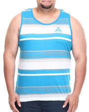 Akademiks - Houston Striped Tank (B&T)