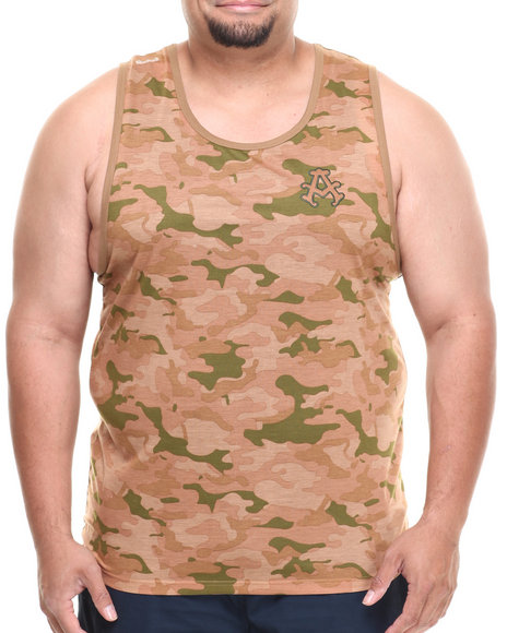 Akademiks Camo,Tan Block Ops Camo Tank (Big & Tall)