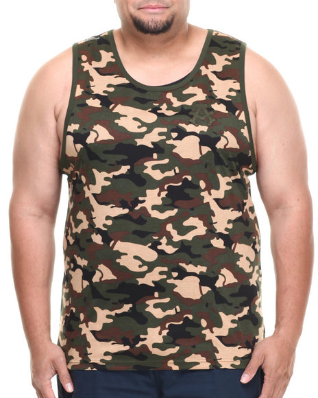 Akademiks Camo,Green Block Ops Camo Tank (Big & Tall)