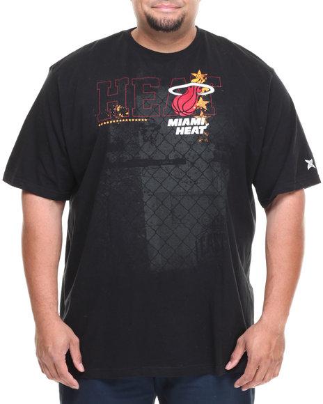 NBA, MLB, NFL Gear Black Miami Heat Fence Tee (Big & Tall)
