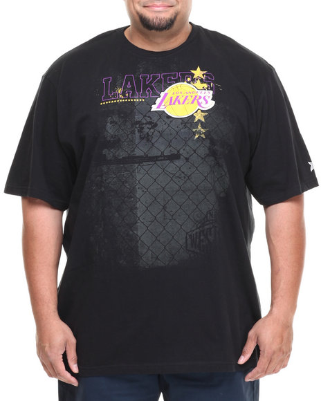 Nba, Mlb, Nfl Gear - Men Black Los Angeles Lakers Fence Tee (B&T) - $20.99