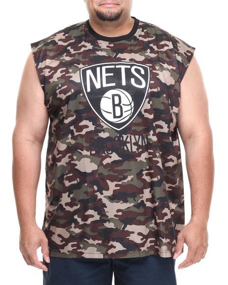 Nba, Mlb, Nfl Gear - Men Camo Brooklyn Nets Tactics Muscle Tee (B&T)