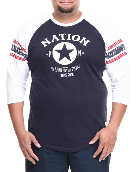 Parish Navy Nemesis Baseball Raglan (Big & Tall)