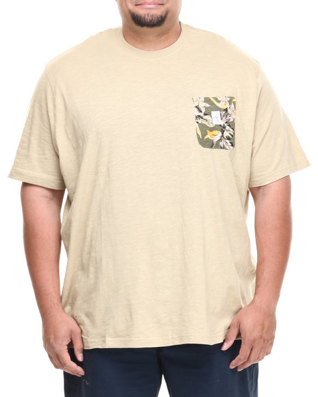 Parish Khaki Floral Pocket Tee (Big & Tall)