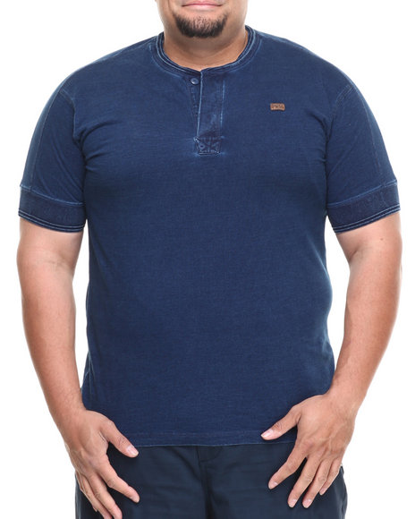 Parish Blue Compass Henley (Big & Tall)