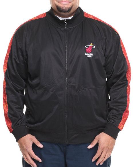 Nba, Mlb, Nfl Gear - Men Black,Red Miami Heat Blueprint Track Jacket (B&T)