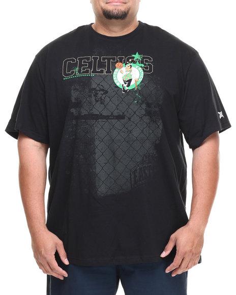 NBA, MLB, NFL Gear Black Boston Celtics Fence Tee (Big & Tall)