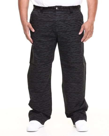 Parish Black Sloth Bear Printed Pant (Big & Tall)