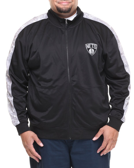 Nba, Mlb, Nfl Gear - Men Black Brooklyn Nets Blueprint Track Jacket (B&T)