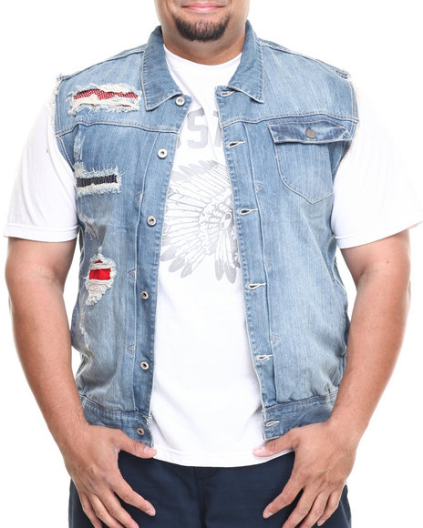 Parish Light Wash Thunderfish Denim Vest (Big & Tall)