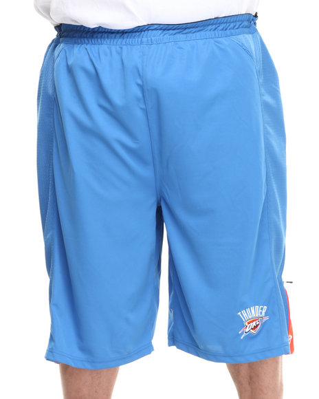 Nba, Mlb, Nfl Gear - Men Blue Oklahoma City Thunder Fence Short (B&T)