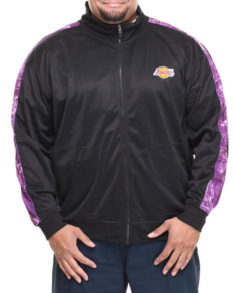 Nba, Mlb, Nfl Gear - Men Black Los Angeles Lakers Blueprint Track Jacket (B&T)