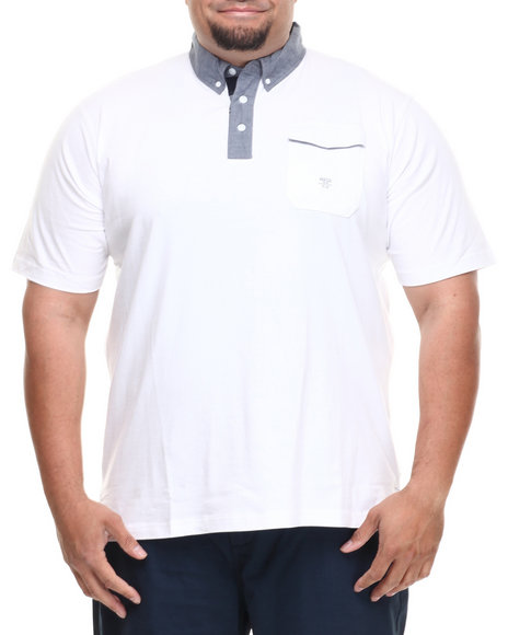 Parish White Ghost S/S Polo (Big & Tall)