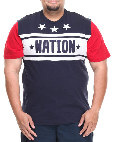 Parish Navy Falkland Nation Tee (Big & Tall)