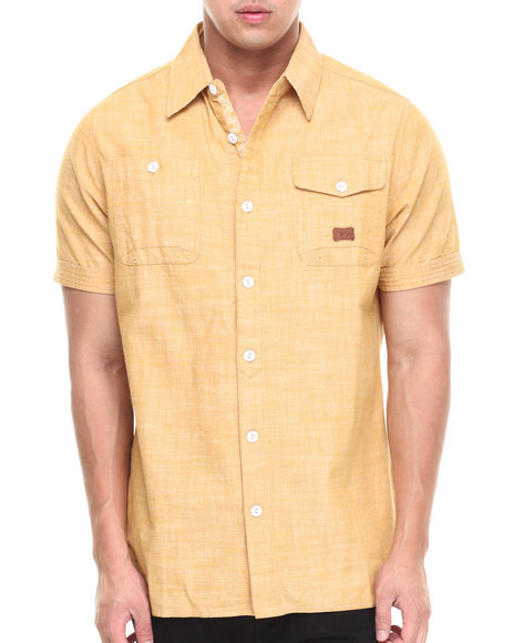 Parish Yellow New World S/S Button Down