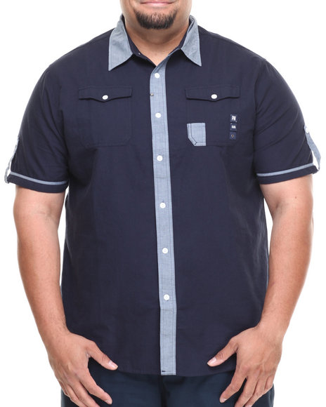 Parish Navy St. Georges S/S Button Down (Big & Tall)